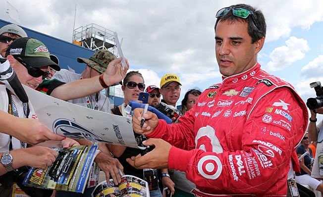 Juan Pablo Montoya has not competed in open wheel racing since 2006, when he switched to NASCAR.