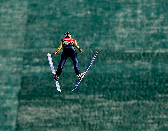 Julia Clair of France during the Ski Jumping Grand Prix Ladies Training Session on Aug. 14 in Courchevel, France.