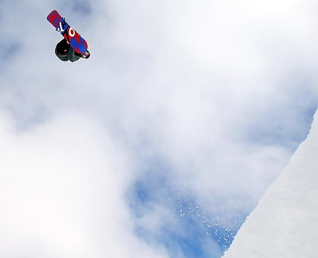 Maxence Parrot of Canada competes during the FIS Snowboard Slopestyle World Cup qualifying at the Winter Games NZ at Cardrona Alpine Resort.