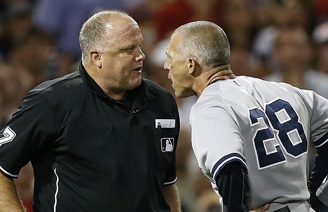 Joe Girardi was livid after Alex Rodriguez was drilled by Ryan Dempster in Boston on Sunday.