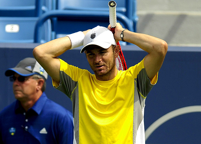 After struggling with the heat in Winston-Salem, Mardy Fish made the decision to retire from the match.