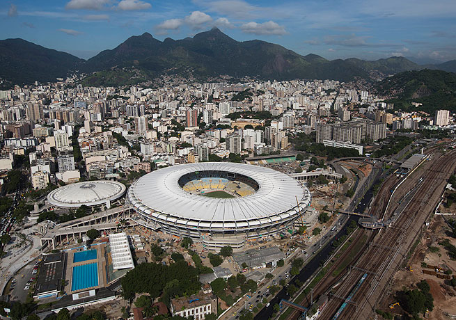 The Maracana Stadium is one of the premier venues for the upcoming 2014 World Cup in Brazil.