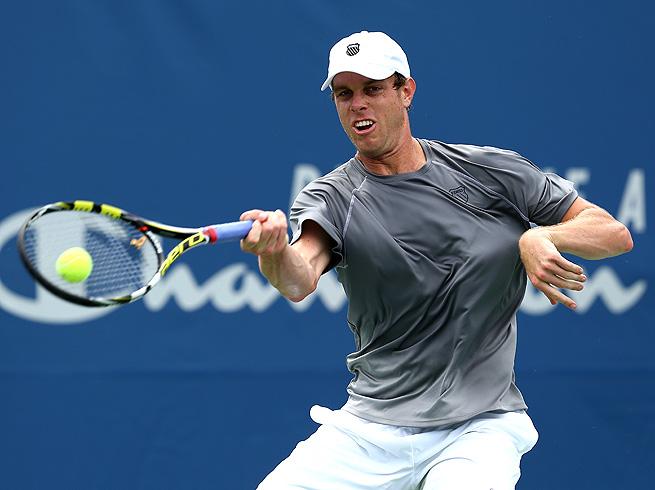 Sam Querrey saved several match points against Jarkko Nieminen to move to the quarterfinals in Winston-Salem.