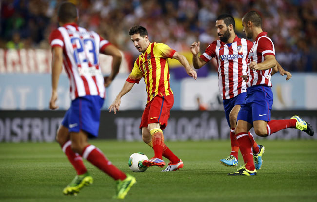Lionel Messi was injured during Barcelona's 1-1 draw at Atletico Madrid on Wednesday.