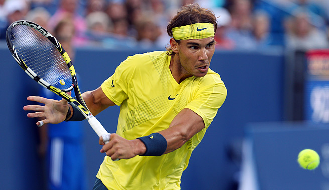 No. 2 Rafael Nadal, the 2010 U.S. Open champion, is 15-0 on hard courts this year and 53-3 overall.