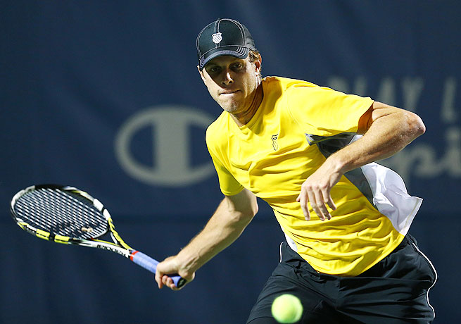 Sam Querrey is trying to win a tournament on American turf in preparation for the U.S. Open next week.