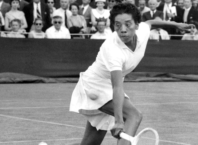 Althea Gibson was the first African-American tennis player to win a Grand Slam tournament.
