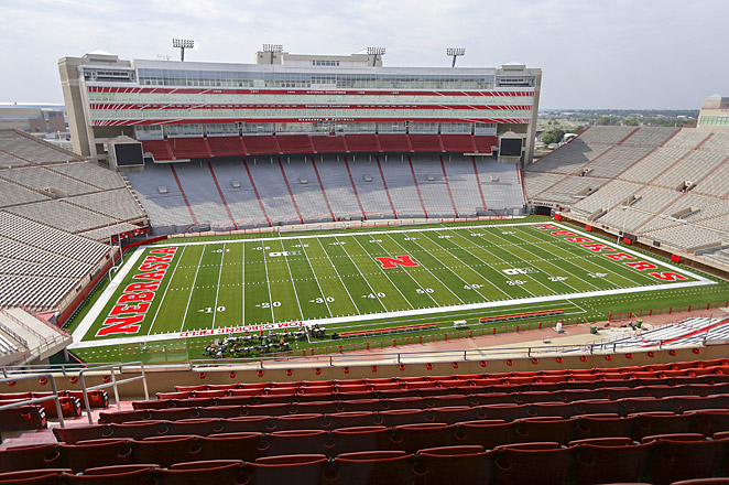 The capacity of Nebraska's Memorial Stadium increased from about 86,000 to almost 92,000.