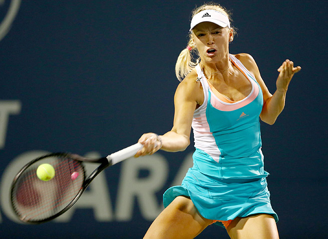 Caroline Wozniacki has a favorable draw as she seeks her first deep run at a major this year.