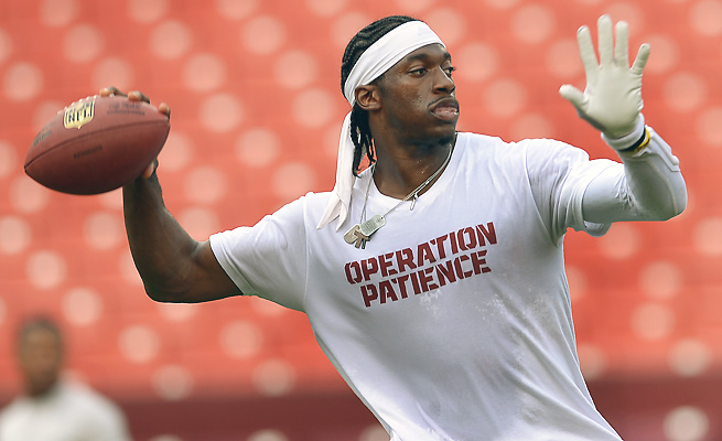A day after getting fined $10,000 for wearing this unauthorized shirt, Robert Griffin III could laugh at the matter.