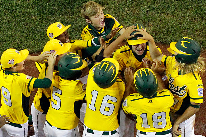 After winning the U.S. title, California plays Japan for the World Series championship on Sunday.