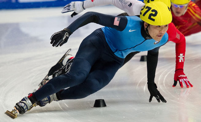 U.S. speedskater Simon Cho was suspended for two years after tampering with a rival's skates.
