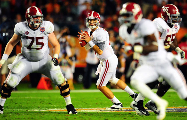 Quarterback AJ McCarron and 'Bama will look to reach their third consecutive BCS title game this season.