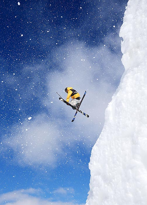 Oscar Wester of Sweden competes in the FIS Freestyle Ski Slopestyle World Cup Qualifying at Cardrona Alpine Resort, Wanaka, New Zealand.