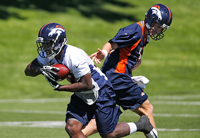 Montee Ball is taking reps in Denver's training camp, with Le'Veon Bell out with a foot sprain.