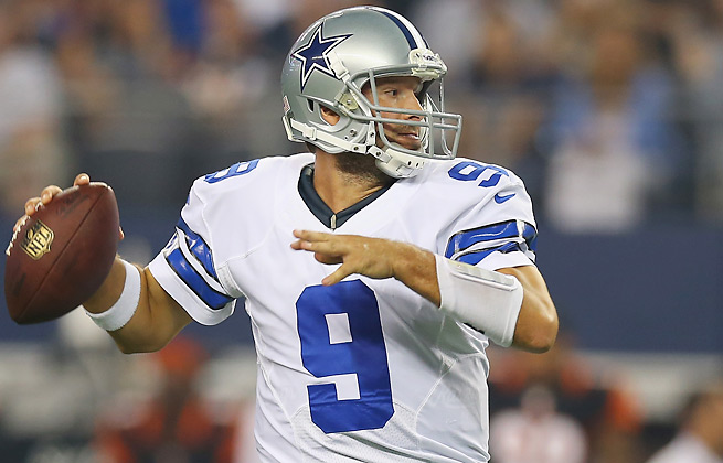 Tony Romo passed for 4,903 yards last season and 28 touchdowns, but 19 interceptions, too.