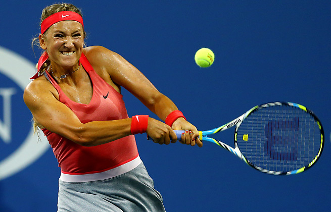 Victoria Azarenka did not drop a game for the third time in a Grand Slam with her first-round win.