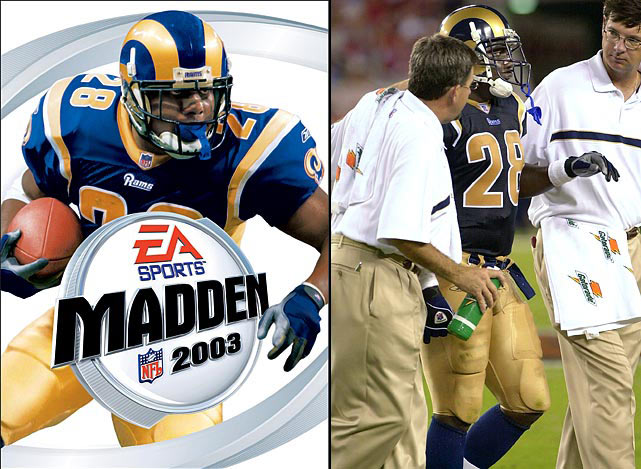 Faulk and the Rams offense was dominant in 2001, but a nagging ankle injury slowed the All-Pro back and St. Louis' offense suddenly became less dangerous. Faulk ran for just 953 yards in 14 games and the Rams went from 14-2 in '01 to 7-9 in '02. Faulk played in a career-low 11 games in 2003 and began having knee issues that would end his career for good in 2005.