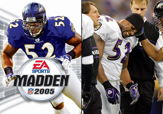 After a dominant campaign in 2003, which included six interceptions, Lewis had a so-so season in '04 with zero picks. The Ravens failed to make the playoffs for the first time in four years and Lewis missed the last game of the season with a wrist injury. He played a career-low six games in 2005.