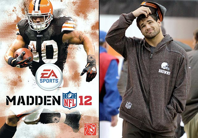 """Hillis now wishes Michael Vick had beaten him in the Madden 12 cover vote. Following a breakout season of 1,177 rushing yards, 477 receiving yards and 13 total touchdowns, Hillis had a dreadful year with just 717 total yards and three TDs. He sat out one game with strep throat (on the advice of his agent) and missed five more with a nagging hamstring injury, while at odds with the Browns over a new contract all season. As Hillis stated following the 2011 season: """"Things didn't work in my favor this year. There's a few things that happened this year that made me believe in curses. Ain't no doubt about it."""""""