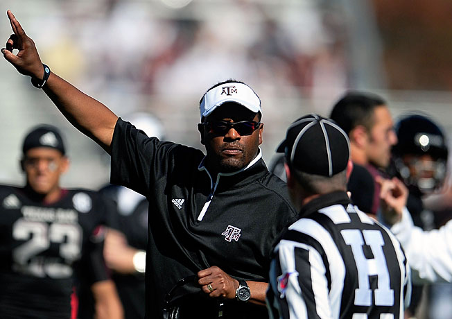 Kevin Sumlin and Texas A&M will look to avenge last year's loss to LSU during their Nov. 23 matchup.