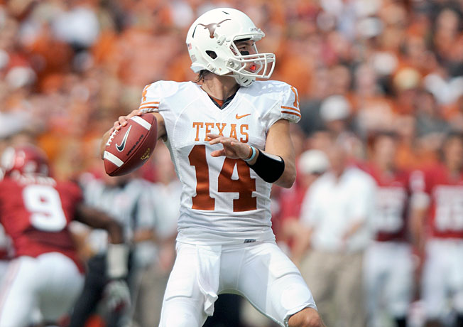 David Ash and Texas lost two games to Oklahoma by a combined score of 118-38 the past two seasons.