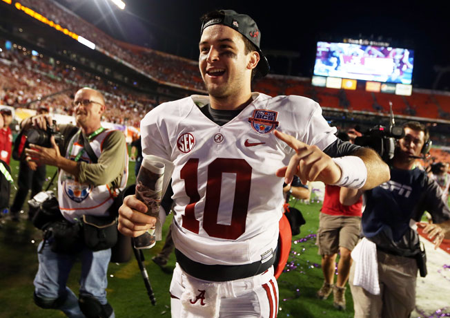AJ McCarron and Alabama beat Notre Dame 42-14 to capture their second straight BCS title last season.
