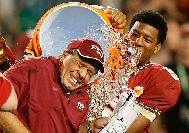 Jimbo Fisher and Jameis Winston celebrated last year's Orange Bowl win. Are bigger things set for '13?