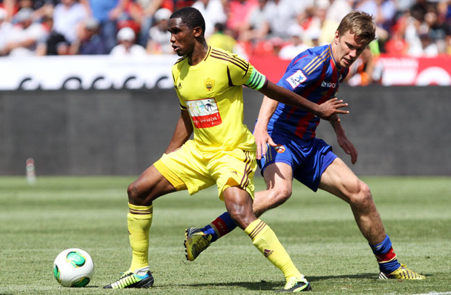 Samuel Eto'o joined Anzhi Makhachkala from Inter in August 2011.