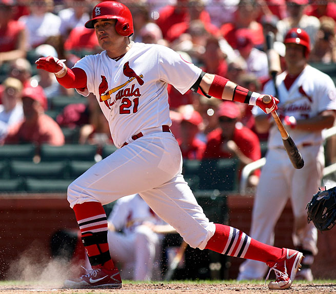 Allen Craig had 97 RBIs and was batting .454 with runners in scoring position, the best in MLB.