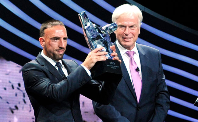 Franck Ribery won Player of the Year honors in Europe for the 2012-2013 season.