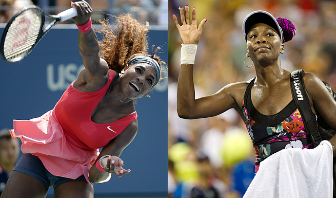 Serena (left) and Venus Williams have won a total of 23 major singles titles, including six U.S. Opens.