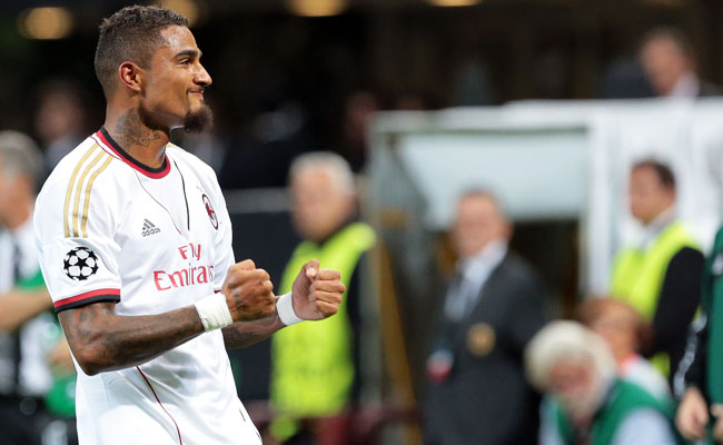 Kevin-Prince Boateng helped Milan qualify for the Champions League by scoring twice on Wednesday.