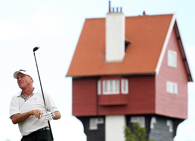 Golf's grand geezer convened in the shadow of The House in the Clouds at Thorpeness Hotel and Golf Club in Thorpeness, England. for the PGA Super 60's Tournament. All duffers must be 60 and over. Farmer and his partner Roger De Courcey led the first round before fading to sixth.