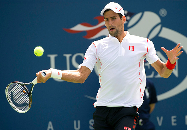 Novak Djokovic calmly and cleanly (minus a shaky first set) took down Benjamin Becker in the second round.