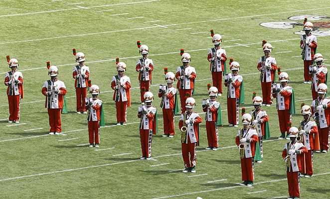 The FAMU band returned from a two-year suspension on Sunday.