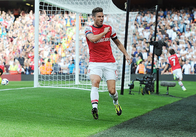 Olivier Giroud's well-taken goal was the only tally needed for Arsenal against rival Tottenham.