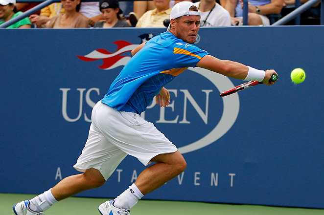 Former world No. 1 Lleyton Hewitt knocked out 2009 winner Juan Martin Del Potro in the second round.