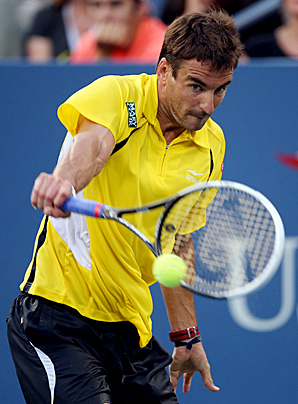 Tommy Robredo advanced to the U.S. Open quarterfinals for the first time.