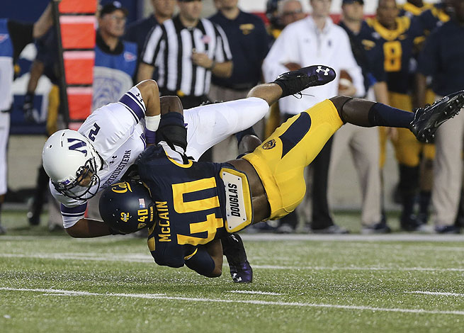 Chris McCain was ejected during the second half of Cal's season-opening loss to Northwestern.