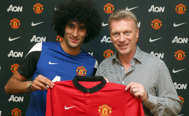 David Moyes was able to sign Marouane Fellaini from Everton just before the transfer window closed.