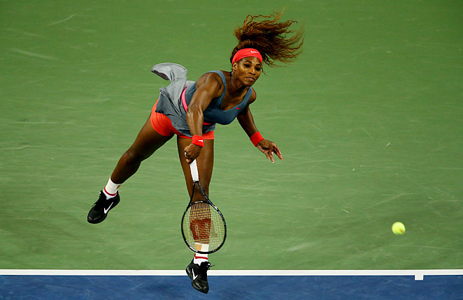 Serena Williams was nearly perfect in a 6-0, 6-0 win over Carla Suarez Navarro of Spain on Tuesday.
