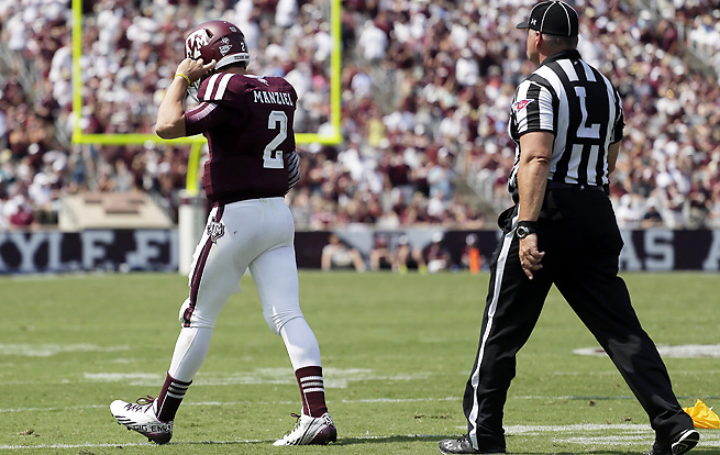 Johnny Manziel threw three touchdowns vs. Rice, but was eventually benched after a taunting penalty.