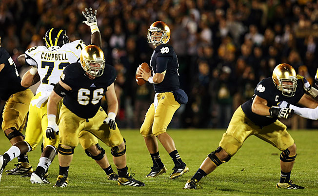 Notre Dame has a record of 16-14 against Michigan in 30 college football meetings dating back to 1978.