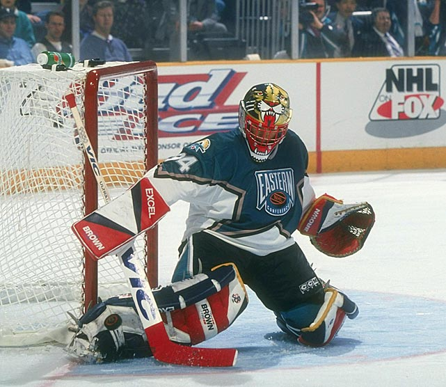 Beezer was selected to play in three NHL All-Star Games as a Panther. Here he is doing his part in the East's 11-7 win in the 1997 edition in San Jose.
