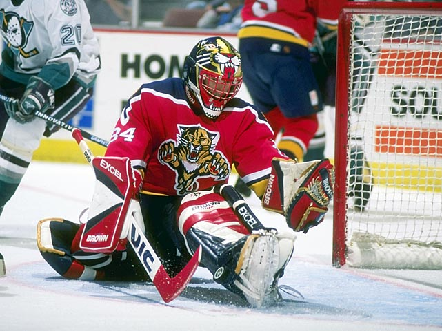 The Beezer denies the Ducks during a January 1997 game at Arrowhead Pond in Anaheim.