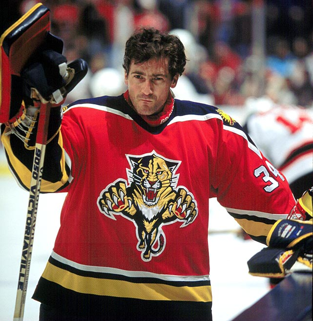 Playing goal for an expansion team isn't always easy, but Beezer helped make the Panthers instantly respectable. They finished out of the playoffs in each of their first two seasons, but didn't sink to the bottom of the Atlantic Division, either.