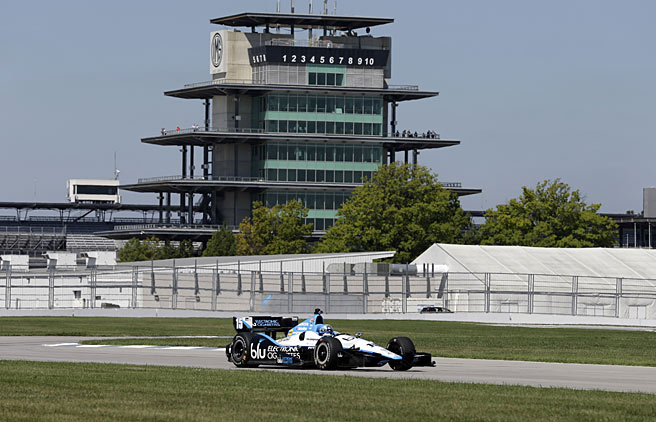 "Graham Rahal tested the road course at Indianapolis Speedway on Wednesday and ""had some fun."""