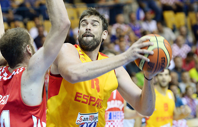 Marc Gasol led Spain to a win in their opening match vs. Croatia at the European championships.