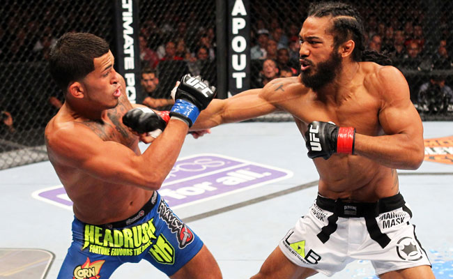 Benson Henderson (right) lost his lightweight title in an August loss to Anthony Pettis.